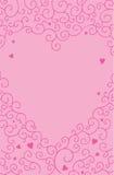 Rosa Herzliebes-Strudelhintergrund stockbild