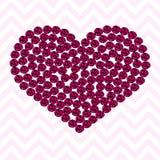 Rosa Herzmuster gemacht von den Rosen lizenzfreie abbildung