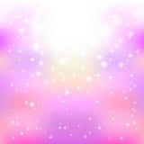 Rosa himmelljus för bakgrund stock illustrationer