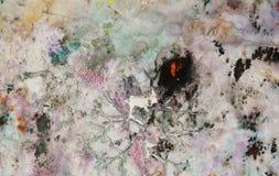 Rosa Hintergrund der Weinlese, malender Aquarellhintergrund, malende abstrakte Farben stockbild