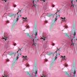 Rosa Hintergrund durch Aquarell Lizenzfreie Stockbilder