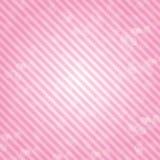Rosa Hintergrund im Linie-zu-tägigen Brustkrebs Stockbilder
