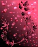 Rosa Hintergrund mit Blumenverzierung Lizenzfreie Stockbilder