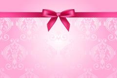 Rosa Hintergrund mit Bogen lizenzfreie abbildung