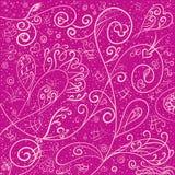 Rosa Hintergrund mit vorzüglichem romantischem Muster Lizenzfreies Stockfoto