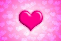 Rosa hjärta stock illustrationer
