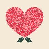 Rosa hjärta Arkivbilder