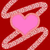 Rosa hjärta Arkivfoto