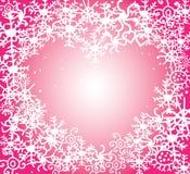 Rosa hjärta för Xmas Arkivbild