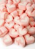 Rosa hjärta formade marshmallower Royaltyfri Bild