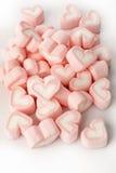 Rosa hjärta formade marshmallower Royaltyfri Fotografi