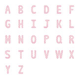 Rosa hjärtaalfabet letters2 Arkivfoto