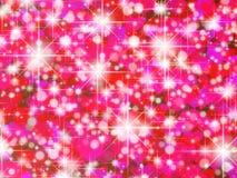 Rosa hjärtabakgrund Stock Illustrationer