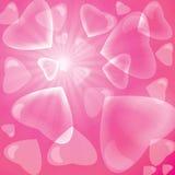 Rosa hjärtabakgrund för bubbla Fotografering för Bildbyråer