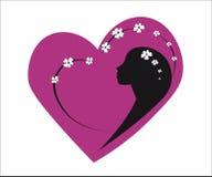 Rosa hjärtaflickavår Royaltyfria Foton