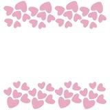 Rosa hjärtagräns vektor Arkivfoto