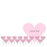 Rosa hjärtagräns vektor Royaltyfria Bilder