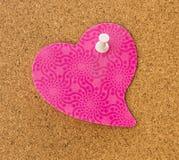 Rosa hjärtaMemo Arkivbild