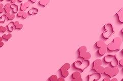 Rosa hjärtor. Fotografering för Bildbyråer