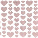 Rosa hjärtor - sömlös modell Arkivbilder