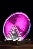 rosa hjul för ferris Royaltyfria Bilder