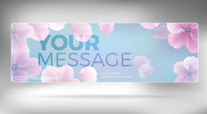 Rosa Hochzeits-Blütenwebsitetitel Lizenzfreie Stockfotografie