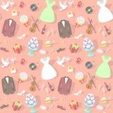 Rosa Hochzeits-Muster Lizenzfreies Stockfoto