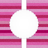 Rosa horizontale abgestreifte Jeanskarte vektor abbildung