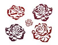 Rosa. icone .tattoo. Fotografie Stock Libere da Diritti