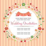 Rosa inbjudanpacke för bröllop Royaltyfri Foto