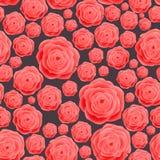 Rosa inconsútil Rose Pattern, fondo del vintage de la trama Ilustración floral en estilo de la vendimia Foto de archivo