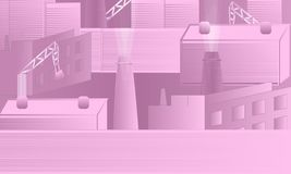 Rosa industrielles Vektor-Design stock abbildung