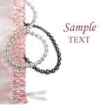 rosa inställning för kvinnliga pärlor Fotografering för Bildbyråer