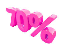 Rosa isolerat procenttecken Royaltyfri Bild
