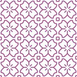 Rosa japonês Cherry Blossom Art Seamless Pattern ilustração royalty free