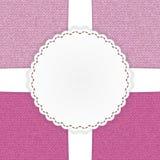 Rosa Jeansschablonenkarte Lizenzfreie Stockbilder