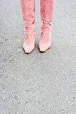 Rosa kängor Royaltyfria Bilder