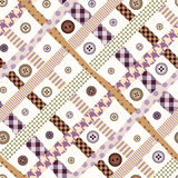 Rosa karierte nahtlose Diagonale Stockbilder