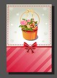 Rosa Kartenvalentinsgruß Stockbilder