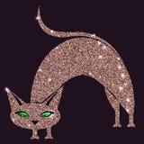 Rosa katt för guld med gröna ögon Fotografering för Bildbyråer