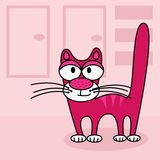 Rosa Katze stockfoto