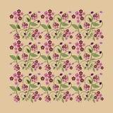 Rosa khokhloma Arkivfoto