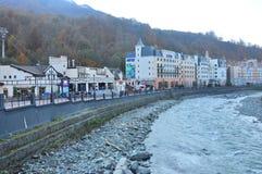 Rosa Khutor Alpine Resort foto de stock