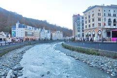 Rosa Khutor Alpine Resort foto de stock royalty free