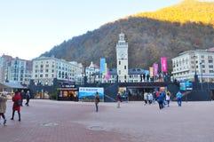 Rosa Khutor Alpine Resort imagens de stock royalty free