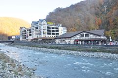 Rosa Khutor Alpine Resort fotos de stock