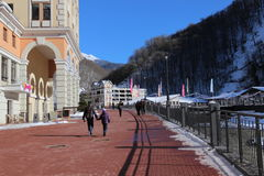 Rosa Khutor Alpine Resort Stock Afbeelding