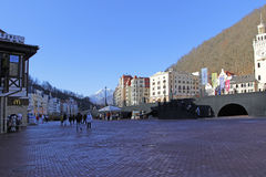 Rosa Khutor alpine resort Stock Photo