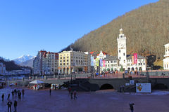 Rosa Khutor alpine resort Royalty Free Stock Photo