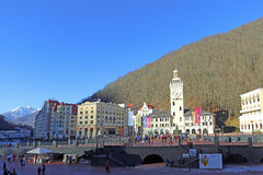 Rosa Khutor alpine resort Stock Images